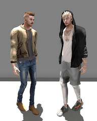 HOLD UP (Levi Megadon // *OMG*) Tags: sl secondlife men mens male blog style look lotd outfit stylish clothing clothes mes event menonlymonthly mom hair burley drot hoodie jacket gabriel theoak bomber coat tank top shirt pumpkin invictus pants denim jeans shorts credo thermals cotton shoeminati shoes sneaks sneakers fatestep boots chelsea urban street wear