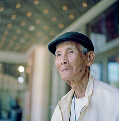 Pham, Stranger #32 (Andy Kennelly) Tags: street old portrait film zeiss project movie theater stranger hasselblad carl medium format years 100 90 32 pham