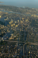 Oakland By Air (D.H. Parks) Tags: city oakland freeway lakemerritt eastbay alameda aerialphotography southwestairlines i580 i880 i980 nikon3518