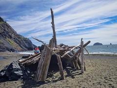 beach house. me want. (rovingmagpie) Tags: beach clouds oregon pacific driftwood beachhouse portorford fixerupper pocketbeach humbugmountainstatepark atps2012