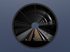 Tube Tunnel Render... (Site1) Tags: london underground 3d render tube rail tunnel cables autocad third
