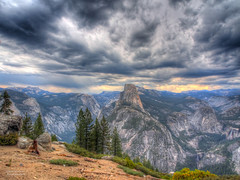 We Need the Storm (RobertCross1) Tags: storm mountains rain clouds forest landscape bravo olympus yosemite nubes halfdome yosemitenationalpark sierranevada hdr omd washburnpoint m43 microfourthirds