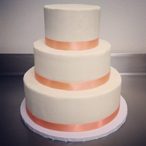 Todays Wedding Cake Lemon Sponge With Cream Cheese Buttercream Frosting No Fondant