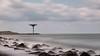 Maasmond Zuiderdam (BraCom (Bram)) Tags: longexposure light sea lighthouse holland canon rotterdam rocks widescreen nederland thenetherlands noordzee zee le northsea 169 vuurtoren maasvlakte zuidholland rotsen zuiderdam breedbeeld langesluitertijd canonef24105mm nd110 maasmond 110nd bracom maasvlakterotterdam bw110endgrey canoneos5dmkiii bramvanbroekhoven
