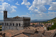 View From The Top (Richard Paterson) Tags: italy day rooftops palazzo dei umbria consoli gubbio umbria2012 pwpartlycloudy