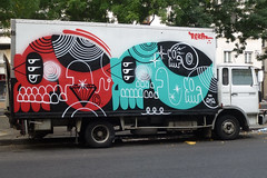 A side (lepublicnme) Tags: streetart paris france truck graffiti september 2012 reka