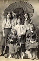 'The kippers at Yarmouth' (lovedaylemon) Tags: old family vintage studio found seaside bucket image siblings photograph parasol yarmouth ayres spade