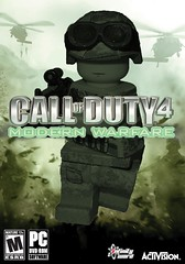 Call of Duty 4: Modern Warfare (Box Art) (-Yoshifan151-) Tags: modern call lego duty badass cod warfare m4a1 noobtoob brickarms cod4