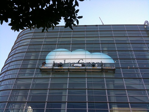 Union workers rolling out the Salesforce cloud sign