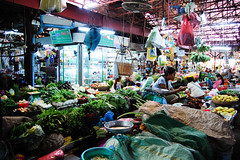 Siem Reap market (marin.tomic) Tags: city travel light fruit dark asian nikon colorful asia cambodge cambodia kambodscha southeastasia cambodian khmer market vegetable tropical siemreap markethall d40