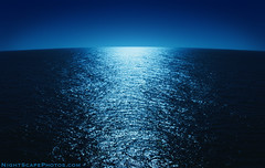 "Moonlight Reflecting on the Ocean (IronRodArt - Royce Bair (""Star Shooter"")) Tags: ocean water reflecting nightscape romantic moonlight nightscapes mexicanriviera"
