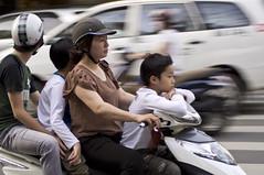 Motorbike family (Poisson-plume) Tags: city family portrait people urban scooter chi ho motorbikes minh saigon vietna