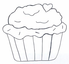 Risco xcara cupcake (Acrilex) Tags: artesanato cupcake pintura acrilex roselidaniel artesmanuaisriscoriscocupcake