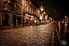 Grassmarket (Paki Nuttah) Tags: life road street blue light tree night dark scotland twilight edinburgh europe cobbled hour cobbles grassmarket spiritofphotography theinspirationgroup
