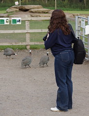 Kerry brave again (Andy Coe) Tags: park woman birds animals female pose photographer wildlife sony south yorkshire kerry brave alpha doncaster a77