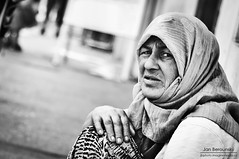 Bosnian street (JanBerounsky) Tags: street old portrait woman white black look 50mm photo nikon bokeh bosnia snapshot 18 hercegovina d90