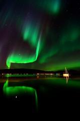 sailboat in the arctic night (John A.Hemmingsen) Tags: longexposure sky reflection water colors night stars aurora nordnorge northernlights auroraborealis borealis troms troms nordlys tokina1116 nikond7000