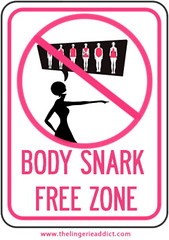 Body Snark Free Zone Sign