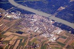 Tulln an der Donau (magro_kr) Tags: water river landscape austria österreich scenery view aerial osterreich danube woda donau widok oesterreich rzeka dunaj krajobraz sceneria tullnanderdonau