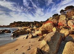 Red rocks (PhotoArt Images) Tags: ocean sky beach water clouds rocks australia tasmania photoartimages