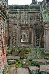 Angkor Doorways (nydavid1234) Tags: travel tourism temple ancient nikon ruins asia cambodia landmark angkor d60 nydavid1234
