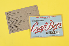 Ace Hotel & Swim Club Craft Beer Weekend (Print Pinball) Tags: graphicdesign creative portlandoregon printmedia acehotel sustainable recycledpaper chipboard offsetprinting soyink greendesign creativedesign pinballpublishing greenprinting ecofriendlyprinting offsetprintshop printpinball printingmadefun printitem sustainableprinting