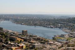 View of Lake Union from Space Needle (Can Pac Swire) Tags: seattle city urban usa america us washington view unitedstates state unitedstatesofamerica aerial american spaceneedle lakeunion aimg6537
