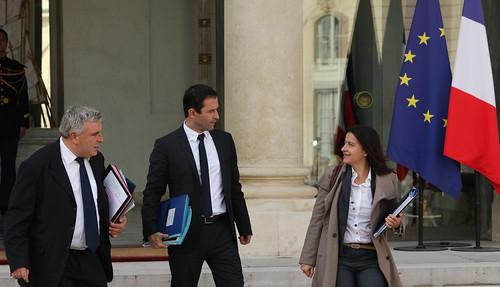 Frédéric Cuvillier, Benoit Hamon et Cécile Duflot