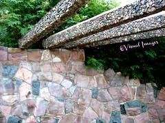 STONE WALL AND BEAMS IN GARDEN (Visual Images1) Tags: stone wall southdakota 6ws beams siouxfalls picmonkey
