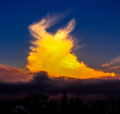 Fire in the sky (Silver Blu3) Tags: light sunset sky cloud bangalore skyart
