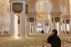 Jueun at Sheikh Zayed Mosque 4 (tdwigs) Tags: travel uae september abudhabi 2012 sheikhzayedmosque