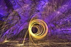 Bunker spiral (Daniel J Murphy) Tags: shadow lightpainting night pentax harbour jetty australia bunker smc 1224mm k5 coffs steelwool