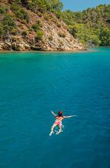 Good Day for a Swim (Nomadic Vision Photography) Tags: turkey island mediterranean exploring relaxing fethiye travelphotography turquoisewater jonreid perfectsea tinareid httpnomadicvisioncom perfectswimming