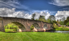 Kinkell Bridge Scotland (Whitto27) Tags: uk bridge summer sky cloud water grass sunshine stone clouds river scotland spring nikon branch arch bright britain great twig hdr highdynamicrange photomatix kinkell d5100 whitto27