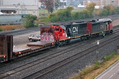 Oops (Wide Cab) Tags: cn crane accident mow oops ontheground canadiannational derailment maintenanceofway rerail neenahsub neenahyard