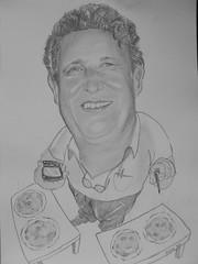 Caricatura pizzaiolo -matita su carta- cm 30x42 -2012 -40