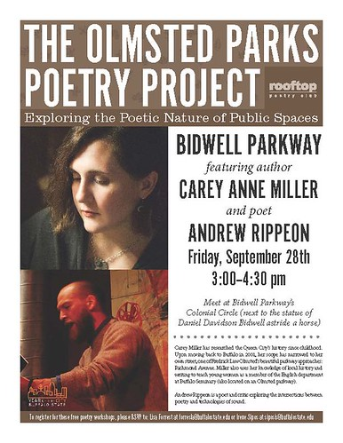The Olmsted Parks Poetry Project: Featuring Carey Anne Miller & Andrew Rippeon