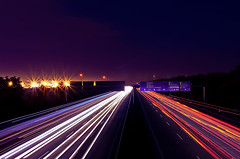 Freeway of Light (_flowtation) Tags: cars germany nikon highway hessen frankfurt freeway lighttrails a5 lufthansa lightstreams fraport bab5 lightstars lichtspuren airportfrankfurt autobahna5 d7000 nikond7000 federalmotorway5