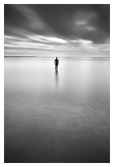 Time Stands Still For No Man (A-D-Jones) Tags: ocean sea white seascape black beach mono long exposure waves place anthony another hitech gormley crosby blundellsands 10stopper prostopper
