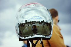 Spit-N-Shine reflection redux (Eric Flexyourhead (shoulder injury, slow)) Tags: sky canada reflection bike vancouver clouds zeiss mirror shiny downtown bc cloudy bokeh britishcolumbia helmet motorbike motorcycle visor shallowdepthoffield 2016 motorcyclehelmet theshop waterfrontroad 55mmf18 sonyalphaa7 zeisssonnartfe55mmf18za spitnshine 2016spitnshinevintageandcustommotorcycleshowandshine