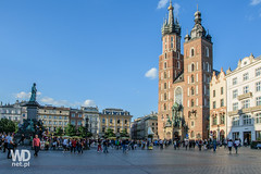 Krakow Old Town (WDnet) Tags: blue sky people sun history tourism monument architecture buildings europe culture poland krakow oldbuildings tourists oldhouse entertainment monuments oldtown stmaryschurch summervacation touristattractions theoldcity colorfulhouses themarket friendlytown d5300