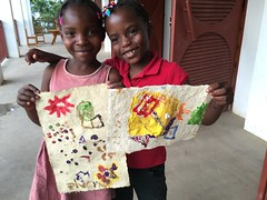 Biverly and Rebecca (Haiti Partners) Tags: haiti entrepreneurship socialbusiness childrensacademy july 2016 papermaking