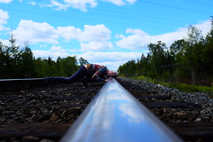 Tracking Device (eddi_monsoon) Tags: threesixtyfive 365 selfportrait selfie self portrait railroad railroadtrack