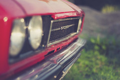 There's a vintage which comes with age and experience (Paulina_77) Tags: vintage ford capri red car classic old nikond90 nikon d90 pola77 nikkor50mm18 nikkor 50mm18 50mm18g 50mm f18 prime lens fixed focal length wide open aperture grass dof depthoffield closeup details bokeh detail shallow depth blur blurred background blurry bokehlicious selective focusing focus muted tones creative processing headlights sparkly sparkle sparkling metal silver front warm