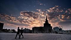 Dawn at Doha (Sanjiban2011) Tags: doha qatar dawn morning fanar fanaar souq souqwaqif clouds cloudscape cloud sky skyscape sunrise sunrays building street travel touristattraction nikon d750 fullframe fx nikon24120