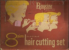 the home buzz cut kit (912greens) Tags: haircuts hair cutting boxes products 1950s kits razors dyi ads advertisements