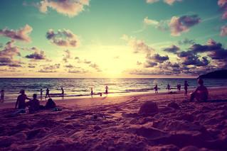 Beach sunset scenery