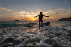 Libertad (Caramad) Tags: ibiza landscape sunset cala olas puestadesol sea agua ametssa illesbaleares chica mar seascape calacomte rocas rocks playa