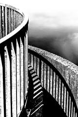 Steel shadows (++sepp++) Tags: fotostammtisch lech pfaffenwinkel halblech bayern deutschland de bw blackwhite monochrom einfarbig sw schwarzweis architektur architecture abstract abstrakt minimalism minimalismus kontrast contrast beton concrete gelnder railing stahl steel