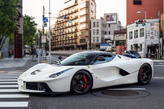 White LaF (ayeshonline) Tags: ferrari laferrari v12 hypercar supercar carsoftokyo tokyo japan city roppongi